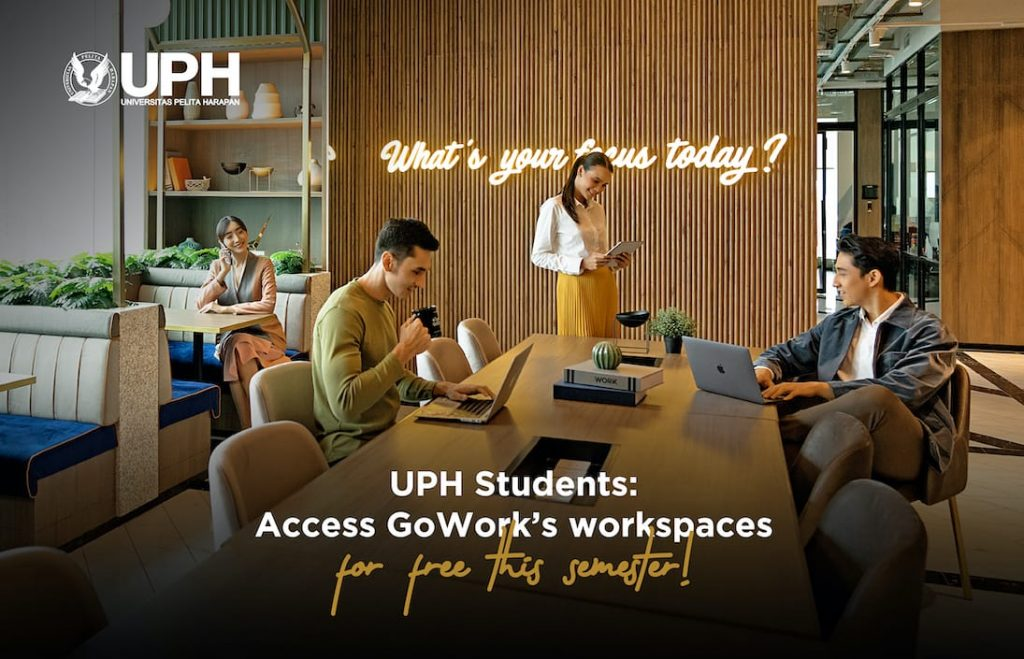 UPH Students: Access GoWork's workspaces for FREE this semester!